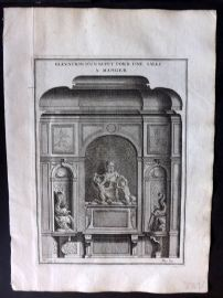 Vignola 1738 Architectural Print. Bufet in Dining Room 99C